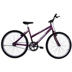 Bicicleta Aro 26 S/Marcha Feminina Life Roxa