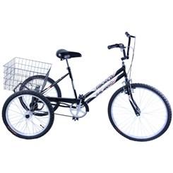 Bicicleta Aro 26 Triciclo Câmbio V Break Grafite