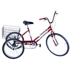 Bicicleta Aro 26 Triciclo Câmbio V Break Vermelho