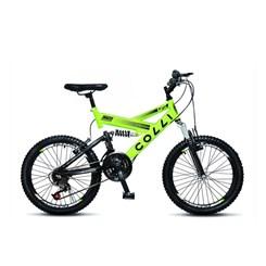 Bicicleta Colli A20 Masc Suspensão Amarelo Neon