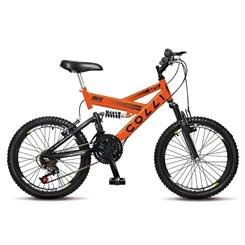 Bicicleta Colli A20 Masc Suspensão Laranja Neon