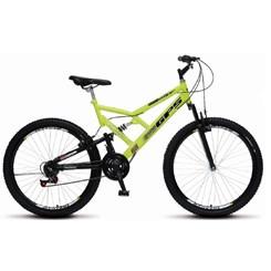 Bicicleta Colli A26 Suspensão 21 Marchas Amarelo Neon