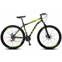 Bicicleta Colli A29 21M Aço F.D Athena Preto Amarelo Neon