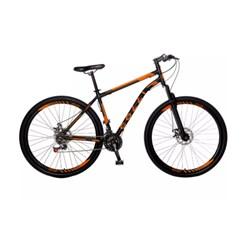 Bicicleta Colli A29 21M Aço F.D Athena Preto Laranja
