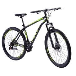 Bicicleta Colli A29 21M F.D Masc Athena Preto F/Amarelo Neon