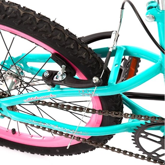 Bicicleta Colli Aro 20 Fem Jully Verde Acqua