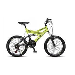 Bicicleta Colli Aro 20 Suspensao 21M Amarelo