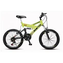 Bicicleta Colli Aro 20 Suspensão 21M Amarelo