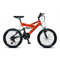 Bicicleta Colli Aro 20 Suspensao 21M Laranja