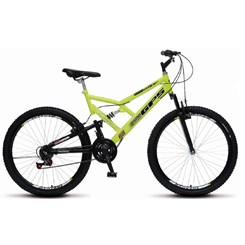 Bicicleta Colli Aro 26 Suspensão 21M Gps Amarelo Neon