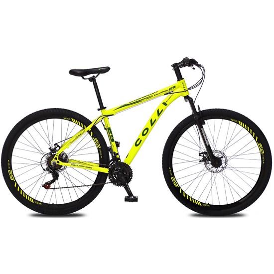 Bicicleta Colli Aro 29 21M Alum Atalanta Amarelo Neon