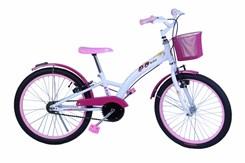 Bicicleta Feminina Aro 20 Fashion Branco