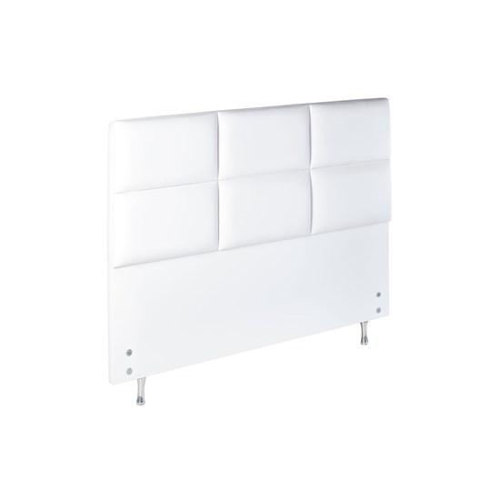 Cabeceira Premium Classic 158 Cm Corino Branco
