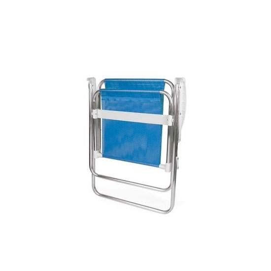 Cadeira Alta Alumínio Sannet Mor Azul