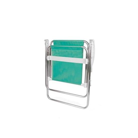 Cadeira Alta Alumínio Sannet Mor Verde