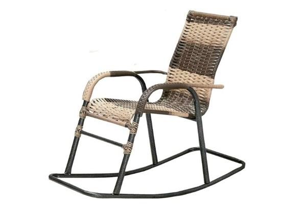 Cadeira Balanço Craquelado Artesanal Argila