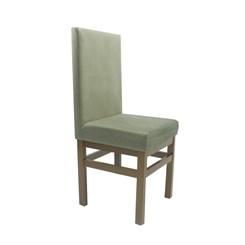 Cadeira Com Encosto Estofado Canela Cacau