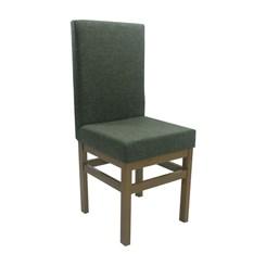 Cadeira Com Encosto Estofado Canela Linho