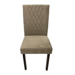 Cadeira Com Escosto Estofado Losango Tabaco Joli Claro