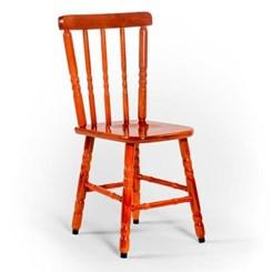 Cadeira De Madeira Maciça Torneada Mel