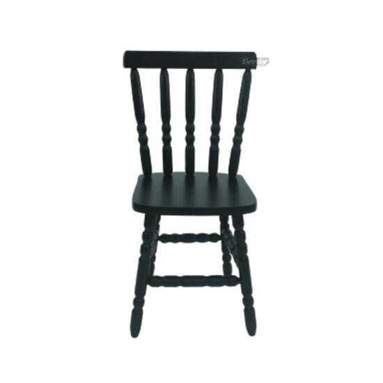 Cadeira De Madeira Maciça Torneada Tabaco