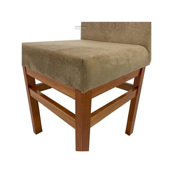 Cadeira De Madeira Sala De Jantar Aris Canela Cacau