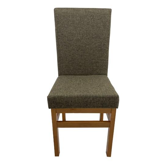 Cadeira De Madeira Sala De Jantar Aris Canela Linho