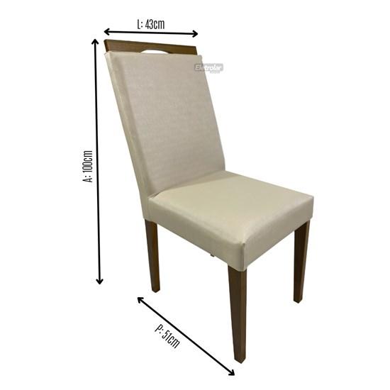 Cadeira De Madeira Sala De Jantar Lemnos Carvalho