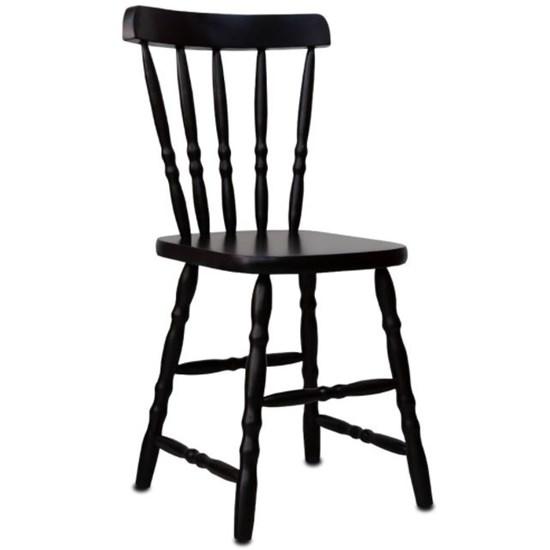 Cadeira De Madeira Torneada Disamóveis Tabaco
