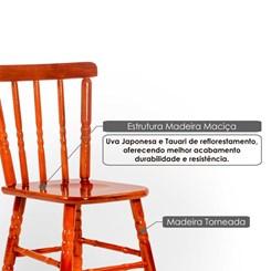 Cadeira De Madeira Torneada Tebas Mel