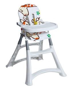Cadeira De Refeição P/Bebê Alta Premium Girafas