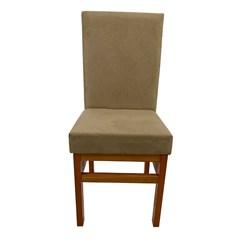 Cadeira Estofado Aris Canela Cacau