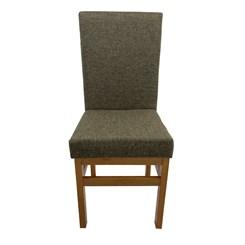 Cadeira Estofado Aris Canela Linho