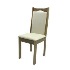 Cadeira Eubeia Tecido Facto Bege Carvalho