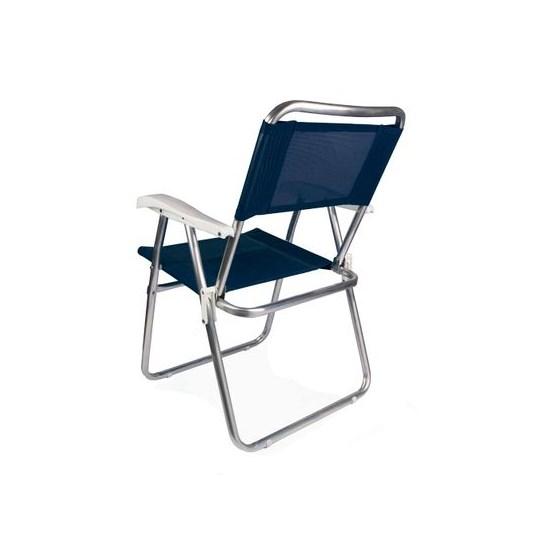 Cadeira Master Alumínio Tela Sannet Mor Azul