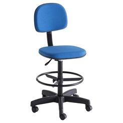 Cadeira Para Caixa Com Rodízio Azul