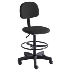 Cadeira Para Caixa Com Rodízio Preto