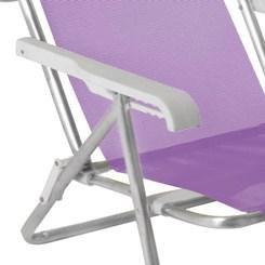 Cadeira Reclinável 8P Alumínio Sannet  Lilas