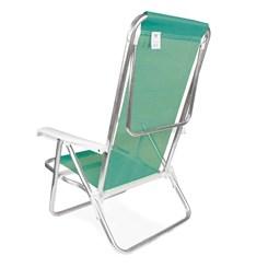 Cadeira Reclinável 8P Alumínio Sannet  Verde