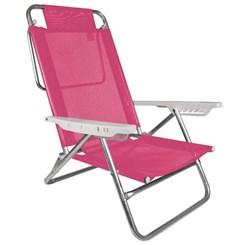 Cadeira Reclinável Alumínio 6P Fashion Pink