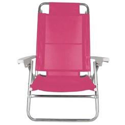 Cadeira Reclinável Alumínio 6P Summer Pink