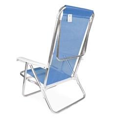 Cadeira Reclinável Alumínio 8P Sannet Azul