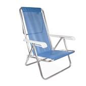 Produto Cadeira Reclinável Alumínio 8P Sannet Azul