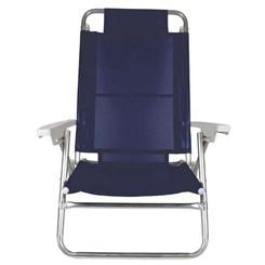 Cadeira Reclinável Summer Fashion Azul Marinho