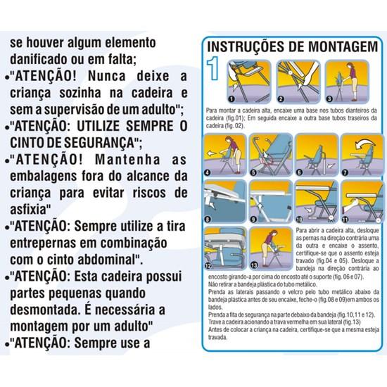 Cadeira Refeição Alta Standard Galzerano Ursinha