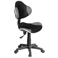 Cadeira Secretária Anatômica Bulk Cinza/Preto
