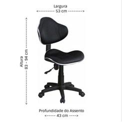 Cadeira Secretária Anatômica Bulk Preto