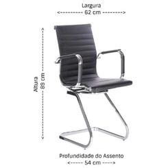 Cadeira Visitante Office H-5006-3. Preta
