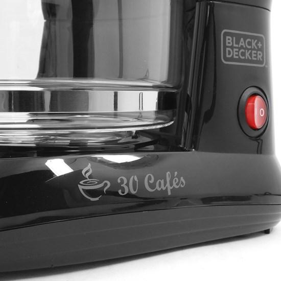Cafeteira Black Decker Cm301 30 Cafés Preto