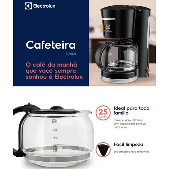 Cafeteira Easyline Cmb21 25Cf Electrolux Preto